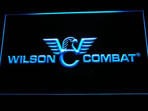 Wilson Combat Firearms Gun Logo LED Neon Sign d242 - Blue
