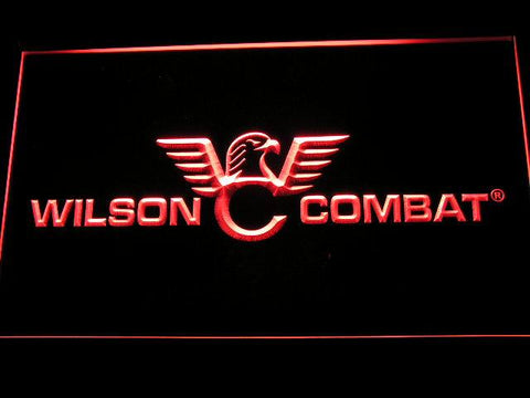 Wilson Combat Firearms Gun Logo LED Neon Sign d242 - Red