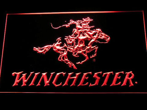Winchester Firearms Gun LED Neon Sign d243 - Red