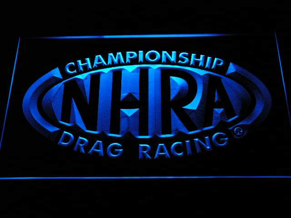 NHRA Drag Racing Hot Rod LED Neon Sign d244 - Blue