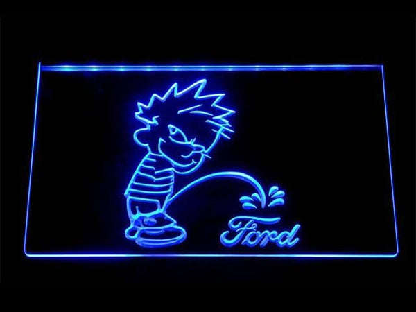 Ford Calvin On Ford LED Neon Sign d260 - Blue