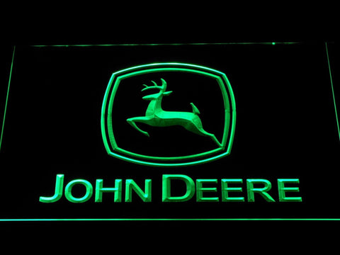 John Deere Tractors LED Neon Sign d299 - Green