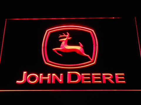 John Deere Tractors LED Neon Sign d299 - Red