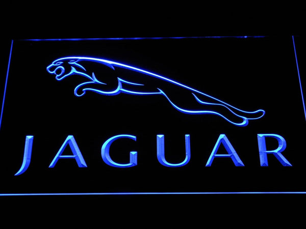 Jaguar Cars LED Neon Sign d300 - Blue