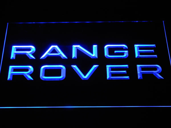 Land Rover Range Rover  LED Neon Sign d302 - Blue