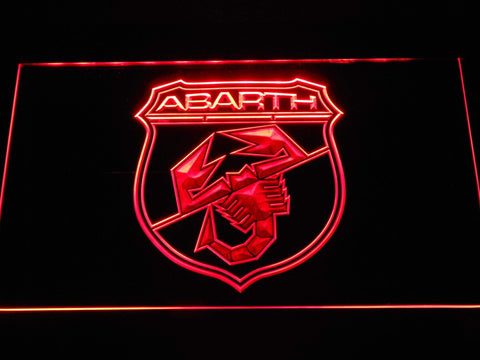Abarth Cars LED Neon Sign d303 - Red