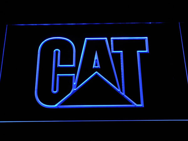 Caterpillar Machinery LED Neon Sign d304 - Blue