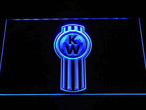 Kenworth Truck LED Neon Sign d307 - Blue