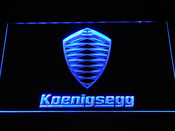Koenigsegg Automotive Ab LED Neon Sign d309 - Blue