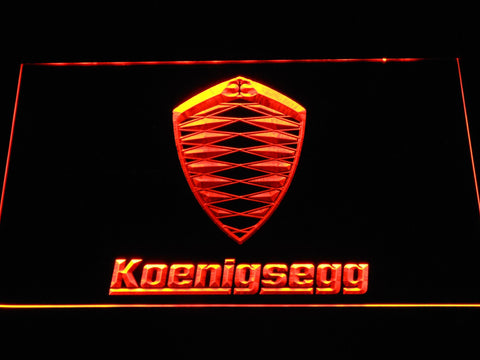 Koenigsegg Automotive Ab LED Neon Sign d309 - Orange