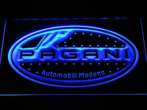 Pagani Motorcars LED Neon Sign d316 - Blue