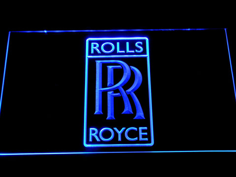 Rolls-Royce Luxury Motor Cars LED Neon Sign d319 - Blue