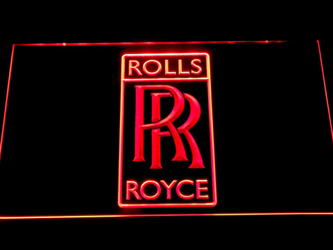 Rolls-Royce Luxury Motor Cars LED Neon Sign d319 - Red