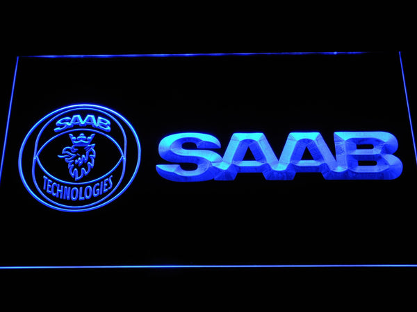 Saab Automobile LED Neon Sign d320 - Blue