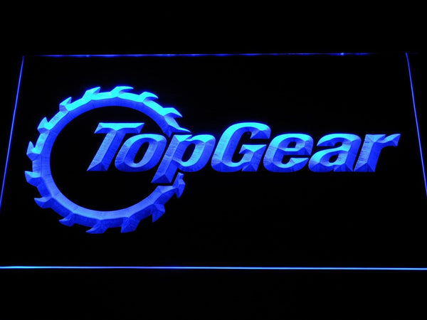 Top Gear TV Shows LED Neon Sign d324 - Blue