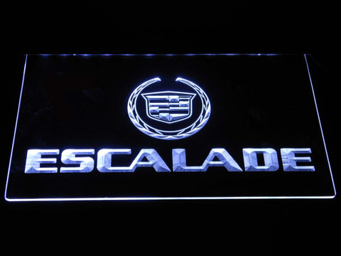 Cadillac Escalade LED Neon Sign d335 - White