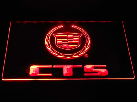 Cadillac CTS LED Neon Sign d336 - Red