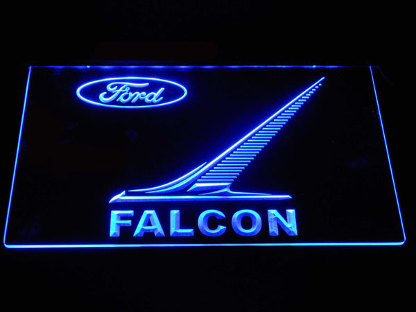Ford Falcon LED Neon Sign d360 - Blue
