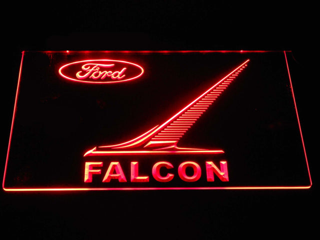 Ford Falcon LED Neon Sign d360 - Red