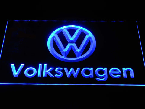 Volkswagen Wordmark LED Neon Sign d379 - Blue
