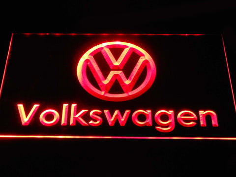 Volkswagen Wordmark LED Neon Sign d379 - Red