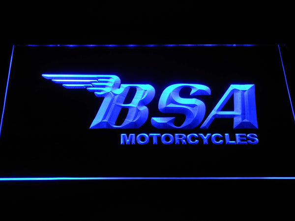 Bsa Motorcycles LED Neon Sign d381 - Blue