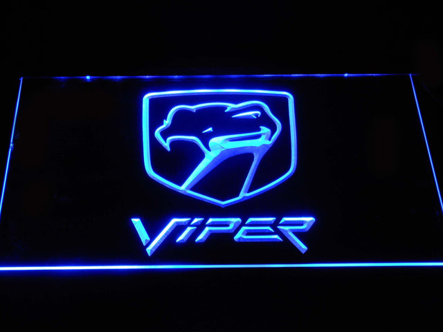Dodge Viper LED Neon Sign d391 - Blue