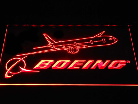 Boeing Aircrafts LED Neon Sign d394 - Red