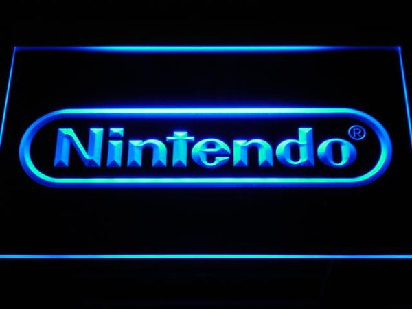Nintendo TV Game LED Neon Sign e021 - Blue
