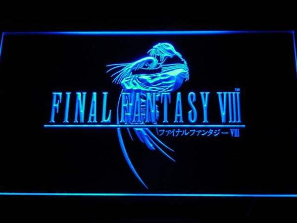 Final Fantasy VIII FF8 PS2 LED Neon Sign e030 - Blue