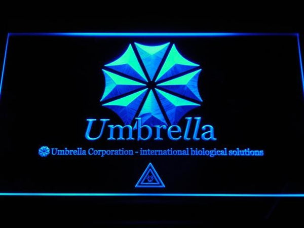 Resident Evil Umbrella Corp Our Business Is Life Itself LED Neon Sign e037 - Blue