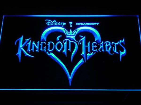 Kingdom Hearts Game LED Neon Sign e039 - Blue