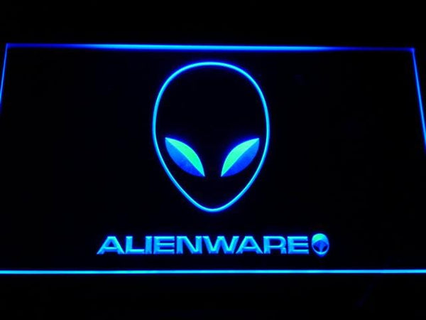 Alienware Gaming Equipments PC Desktop LED Neon Sign e046 - Blue