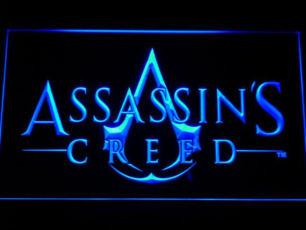Assassins Creed Game LED Neon Sign e056 - Blue