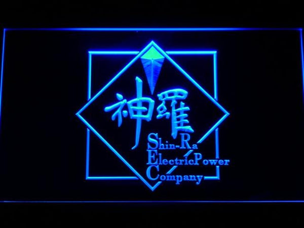 Final Fantasy Vii Shinra LED Neon Sign e058 - Blue