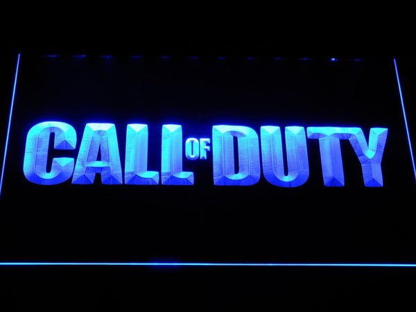 Call Of Duty Warfare Game LED Neon Sign e102 - Blue