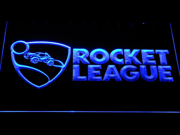 Rocket League TV Game LED Neon Sign e106 - Blue