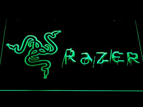Razer Logo LED Neon Sign e134 - Green