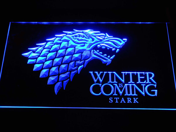 Game Of Thrones Stark Winter Is Coming TV LED Neon Sign e169 - Blue