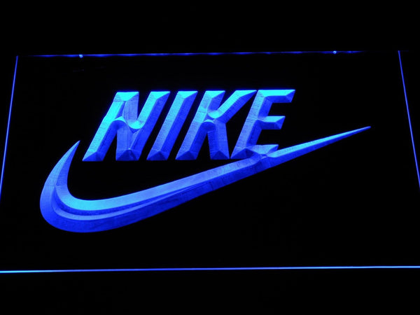 Nike Logo LED Neon Sign f062 - Blue