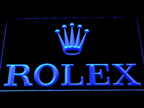 Rolex Logo LED Neon Sign f071 - Blue