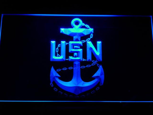 US Navy USN LED Neon Sign f155 - Blue