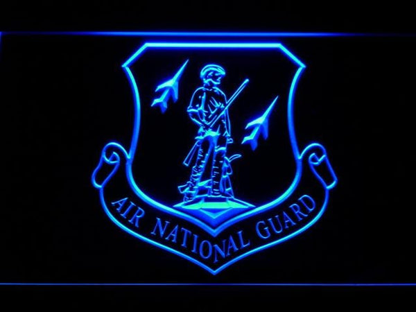 Federal Military Air National Guard LED Neon Sign f197 - Blue