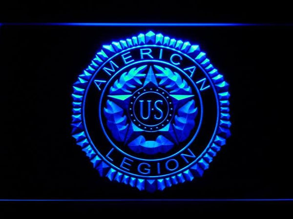 American Legion Veterans Association LED Neon Sign f200 - Blue
