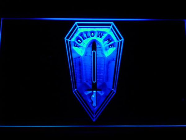 US Army Infantry School LED Neon Sign f203 - Blue