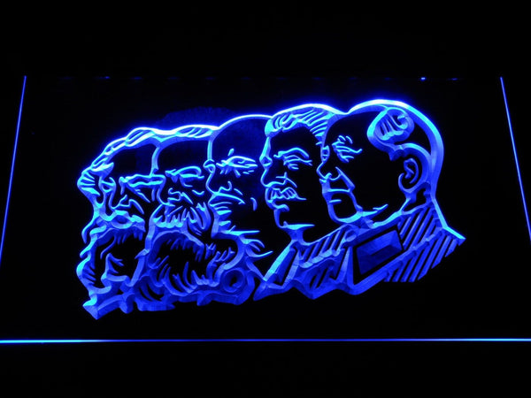 Communis Leaders History LED Neon Sign f218 - Blue