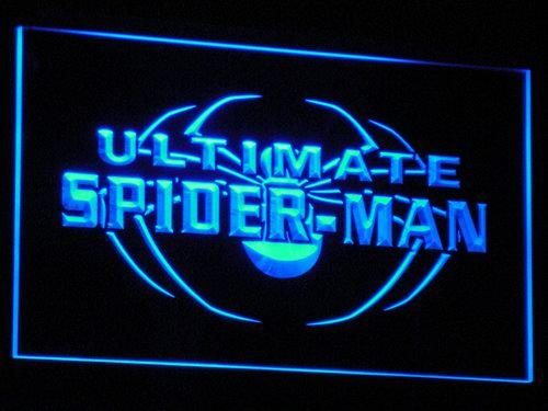 Spider-Man Ultimate LED Neon Sign g003 - Blue