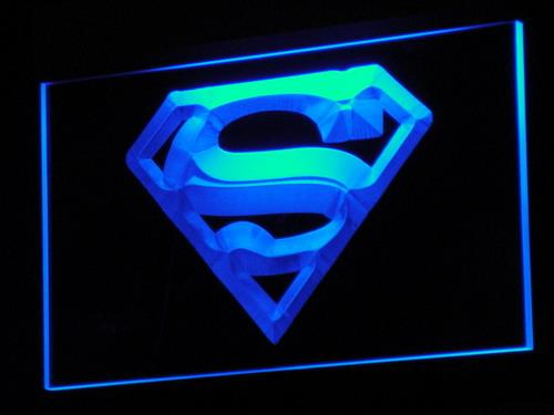 Superman Hero Movie LED Neon Sign g004 - Blue