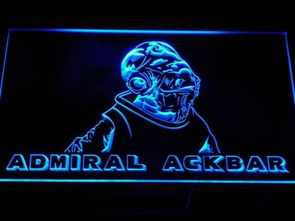 Star Wars Admiral Ackbar LED Neon Sign g028 - Blue