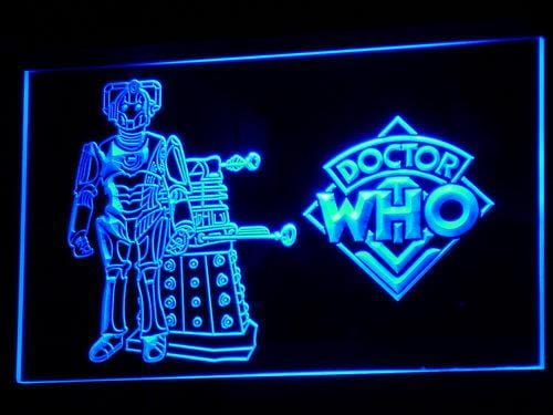 Doctor Who TV LED Neon Sign g059 - Blue